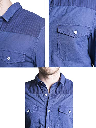 50ffdb1be48 DISTILLED Men s Casual Long Sleeve Button Down Western Vintage Shirt ...
