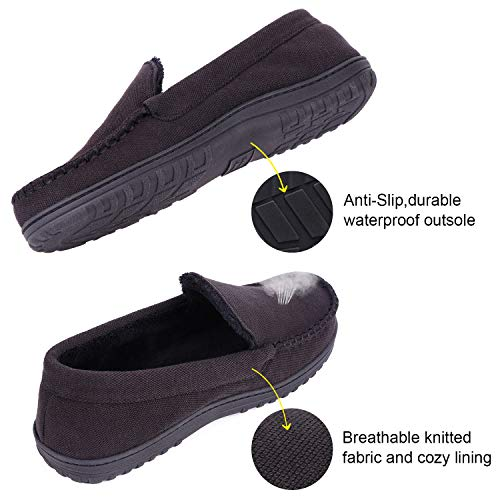 8a0ce971bfc Men s   Women s Moccasin Slippers Anti-Slip House Shoes