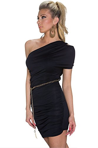 Nero Cut Out una spalla vestito Club wear taglia/M 10–12