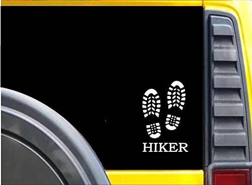 Hiker Bootprints K619 6 inch Sticker hiking trail decal ()