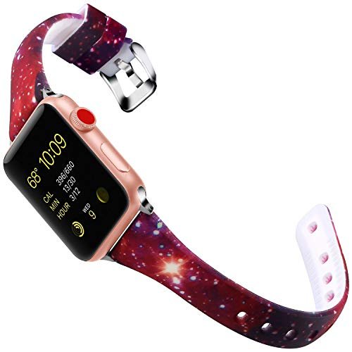 X4-Tech Compatible with Apple Watch Band 38MM/40MM, 42MM/44MM Silicone Choose Color iWatch Replacement Sports Wristband for iWatch Series 4/3/2/1