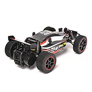 KingPow RC Car Rock Off-Road Vehicle Crawler Truck 2.4Ghz Radio Remote Control 2WD High Speed 1:20 Racing Cars (Red)
