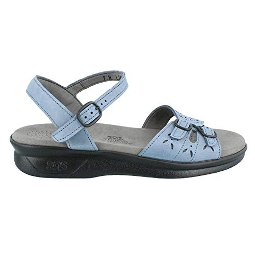 SAS Womens Duo Leather Open Toe Casual Slingback Sandals, Denim, Size 6.5 Iewl