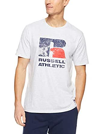 Russell Athletic Men's Eagle R T-Shirt, Ash, S