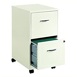 Hirsh SOHO 18″ Deep 2 Drawer Mobile Smart File Cabinet in Pearl White