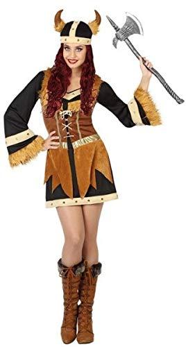 Ladies Sexy Viking Carnival Halloween Historical Fancy Dress Costume UK 8-18 (UK 12-14 (US 8-10))]()