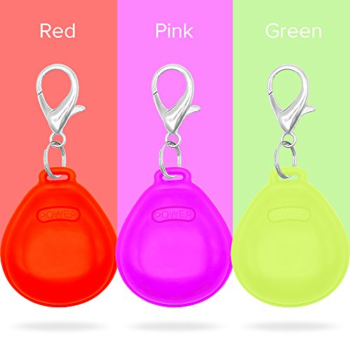 Higo LED Dog Tag, Pack of 3 PCS Glow in the Dark Pet ID Tag, Light Up Dog Safety Lights Pendants Night Dog Walking(Red, Pink, Green) -