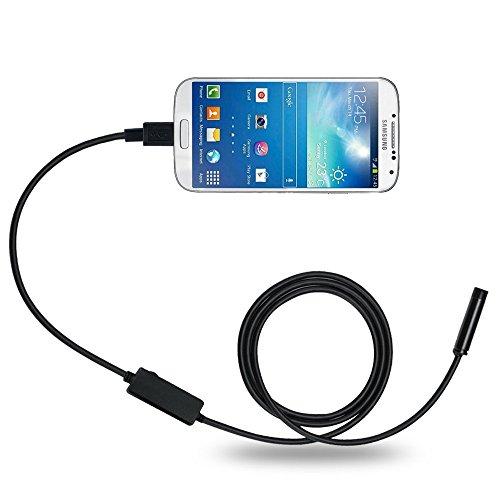 DBPOWER 8.5MM 5M 2MP Handy-Endoskop für Android-System mit OTG und UVC-Funktion & Kompatibel mit Laptop (USB-Adapter inbegriffen)