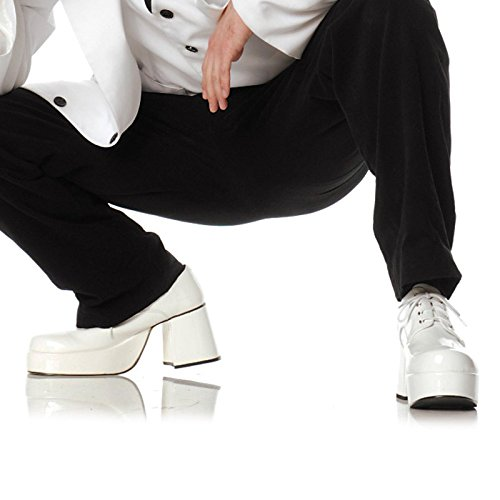 Pimp Adult Costume Shoes White - Small