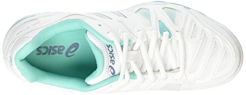 de Gel Chaussures Asics Tennis Blue 5 White Mirage Femme 0162 Game Pool Blanc Blue RSnIH
