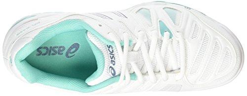 game 0162 Donna Gel blue white Asics Blue Mirage Scarpe 5 Bianco Da Tennis pool a5YSq