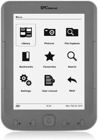 SPCinternet Lector de eBooks de tinta electrónica 5604S - E-Reader (152.4 mm (6