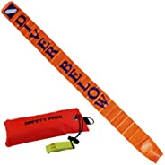 Scuba Choice 6' Surface Marker with Pouch and Whi