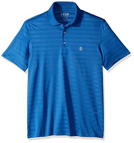IZOD Men's Golf Clubhouse Short Sleeve Polo Shirt, Bright Cobalt XX-Large