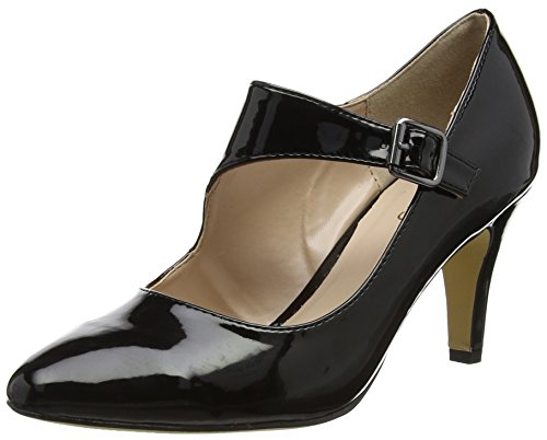 Lotus Damen Laurana Pumps Black (Black Shiny)