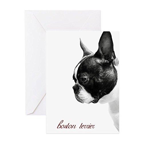 CafePress Boston Terrier Greeting Card, Note Card, Birthday Card, Blank Inside Glossy