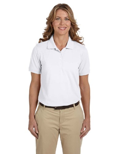 Ladies' Easy Blend Polo, White, XL