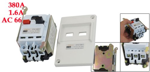 uxcell DZ162-16 AC 660V 3 Pole 1A-1.6A Adjustable Motor Protection Circuit Breaker by uxcell (Image #1)