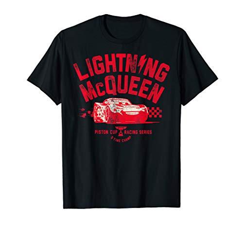 Disney Pixar Cars 3 Lightning McQueen Vintage T-Shirt C1 (Disney Cars Womens)