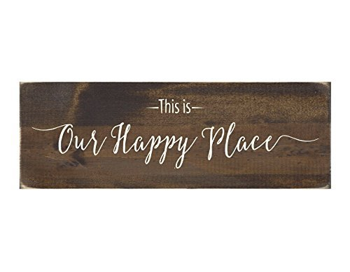 This is Our Happy Place Rustic Wood Sign Home Decor Wall Hanging 33JuliusHenry