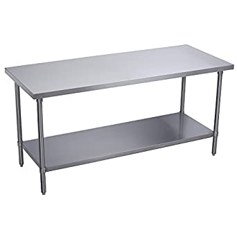 worktable stainless steel food prep 30 x 18 x 34 height commercial - Kitchen Prep Table Stainless Steel