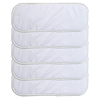 5 Pack Insert with Snap for Cloth Diaper Cover (5 Pack Inserts with Snap)