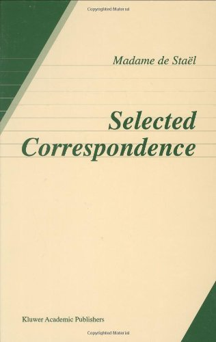 Download Madame de Stael: Selected Correspondence Pdf