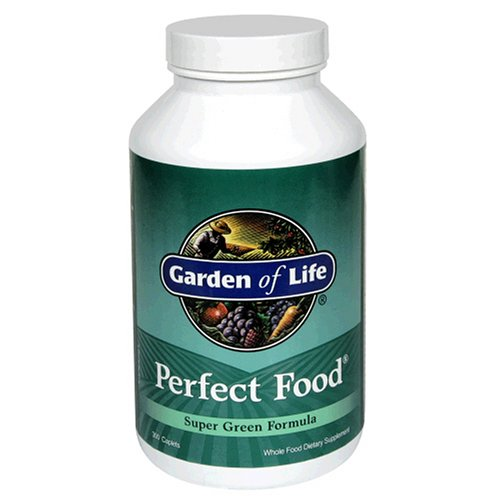Garden of Life Perfect Food Super Green Formula, caplets, 300-Count Bouteille