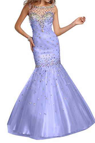 Tuell Ivydressing Steine Damen Meerjungfrau Abendkleid Lavendel Stil fqgfrwt