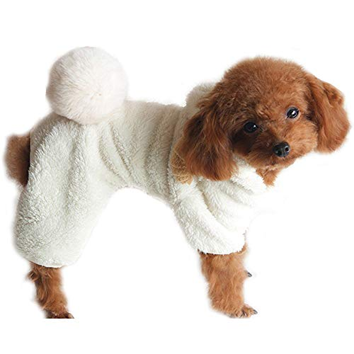 KoKoHouse Halloween Pet Sheep Cosplay Costume Small Dog Cat Winter Warm Fleece Clothes Cold Weather Soft Comfy Jumpsuit Pajamas]()