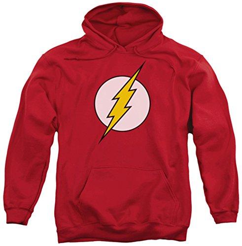 Hoodie: DC Comics - Flash Logo Pullover Hoodie Size L