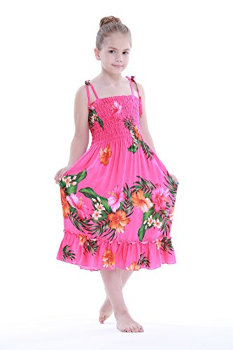 Aloha Fashion Girl Hot Pink Hawaiian Luau Dress in Various Styles
