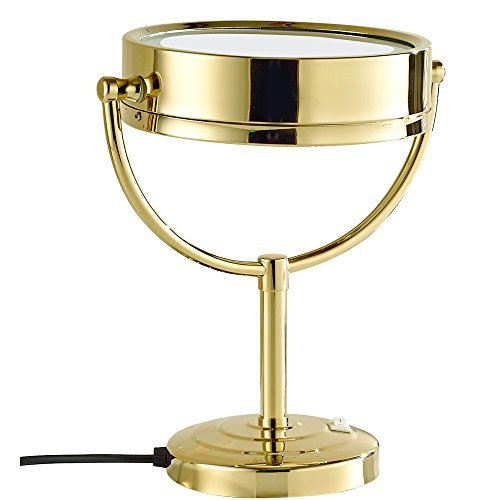 GURUN 8.5-Inch Tabletop Double-Sided LED Lighted Make-up Mirror with 7x Magnification,Gold Finish M2208DJ(8.5in,7x) by GURUN (Image #5)