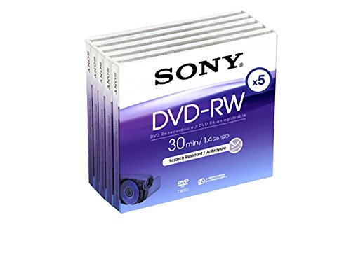 SONY DVD-RW 1.4Gb 8cm 30min Pack 5 Camcorder Mini dvd dvdrw 1.4 gb 30 min