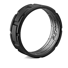 5starzz Premium Quality Breathable Silicone Wedding Ring for Men and Women, Rubber Wedding Band, Practical, Modern and Beautiful Brick Pattern Design, 7 mm Wide