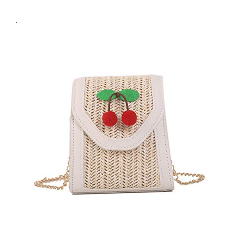 (DDKK bags Hot Handwoven Small Square Rattan Bag for Women-Natural Chic Handbag-Wicker Woven Purse Boho Shoulder Bag)