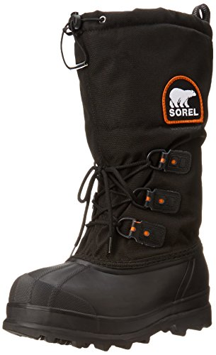 Sorel Men's Glacier Extreme Snow Boot,Black/Red Quartz,8 M US