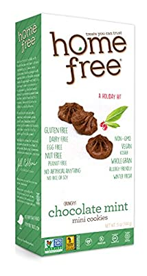 Homefree Treats You Can Trust Holiday Gluten Free Mini Cookies, Chocolate Mint, 5 Ounce