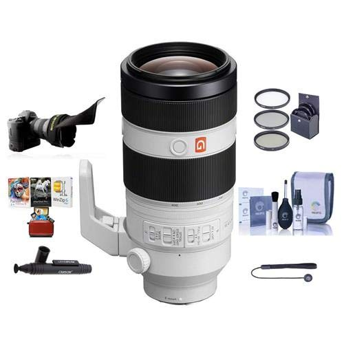 Sony FE 100-400mm f/4.5-5.6 GM OSS E-Mount NEX Camera Lens - Bundle with 77mm Filter Kit, Flex Lens Shade, Cleaning Kit, Capleash II, Lenspen Lens Cleaner, Mac Software Package