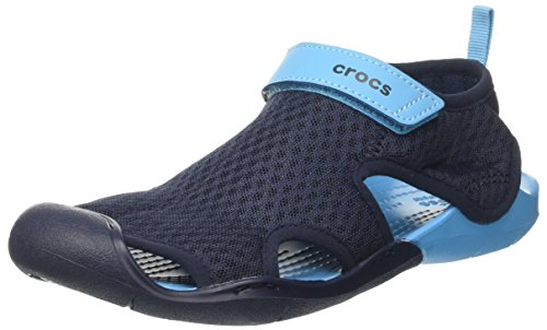 Crocs Women's Swiftwater Mesh Sandal - Navy - 7 B(M) US