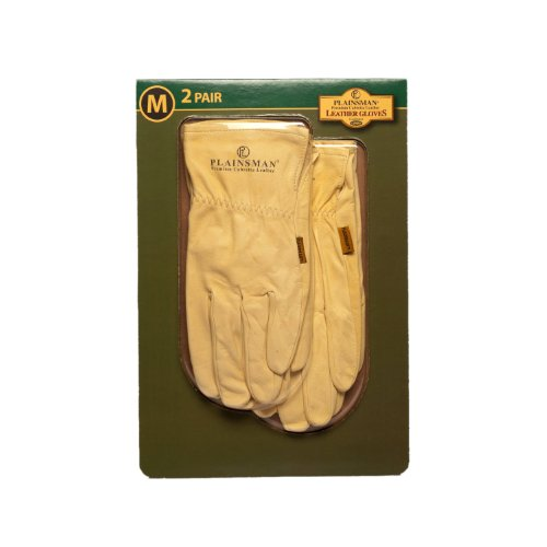 Plainsman Cabretta Leather Gloves - Medium - 2 Pair by Plainsman ()
