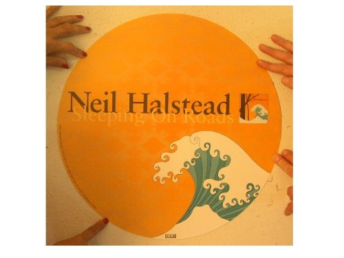 Neil Halstead Poster Sleeping On Roads Orange With Wave Slowdive