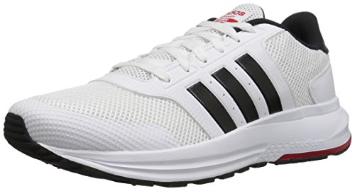 adidas Men's Cloudfoam Saturn Running Shoe, White/Black/Scarlet, 7.5 M US