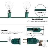 50Feet G40 Outdoor Patio String Light Connectable