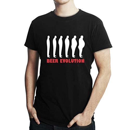 Camiseta Criativa Urbana Engraçadas Beer Evolution Preto Gg