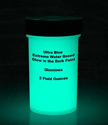 Ultra Blue Glominex Extreme Glow in the Dark Premium Paint (2 Fluid Ounces)