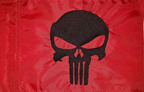 Banderas de Devil Woman Punisher Rojo con Bandera Negra ATV ...