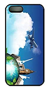 Aircraft and Eiffel Thanksgiving Halloween Masterpiece Limited Design PC Black Case for iphone 5/5S by Cases & Mousepads