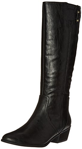 Dr. Scholl's Shoes Women's Brilliance Riding Boot, Black, 7.5 M US