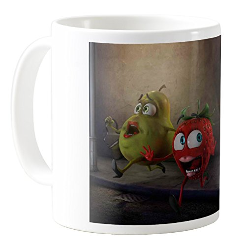 AquaSakura - Banana Flasher - 11oz Ceramic Coffee Mug Tea Cup]()